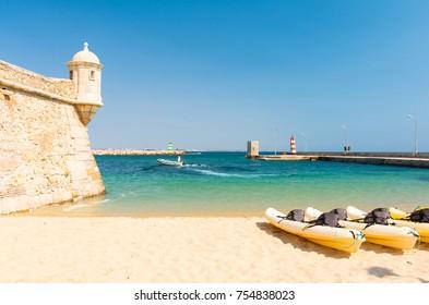 beautiful beach in Lagos, Algarve region in south Portugal
