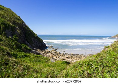 Beautiful beach landscape of Honey Island, Brazil. Picture taken during a sunny February afternoon.