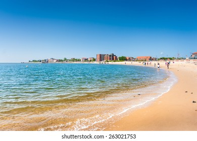 Beautiful beach landscape on the island of Foehr, the second-largest German North Sea island and a popular destination for tourists, in Schleswig-Holstein, North Sea, Germany