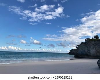 Beautiful beach at Lighthouse Point, Eleuthera, Bahamas