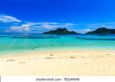 beautiful beach at Mantabuan Island, Samporna Sabah