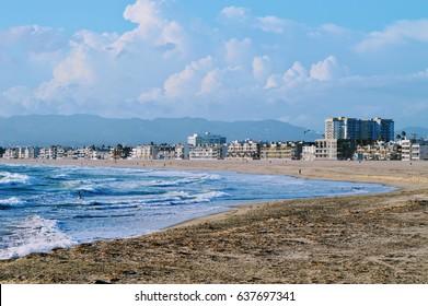 The beautiful beach at Marina del Rey. California.