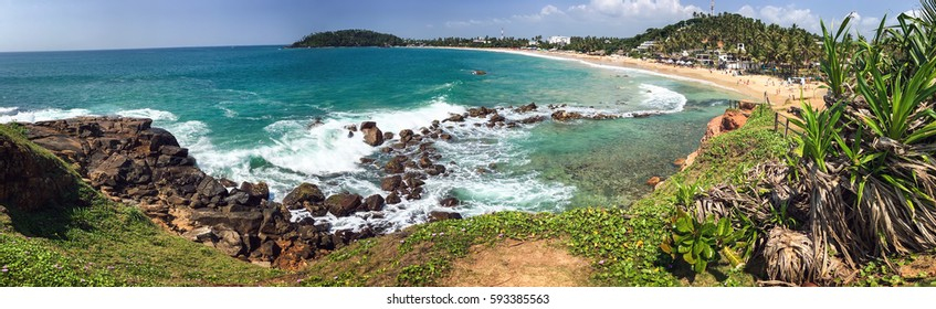beautiful beach in Mirissa, Sri Lanka
