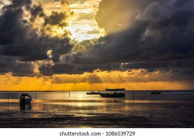 Beautiful beach at Morere, located at Peninsula do Marau, Bahia, Northeast of Brazil.