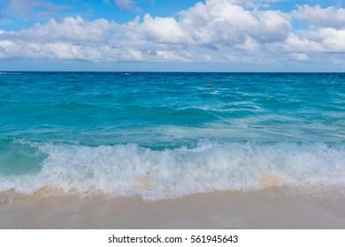 Beautiful beach in Nassau, Bahamas