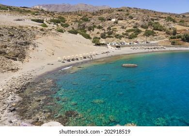 Beautiful beach near Agios Pavlos in Crete island, Greece
