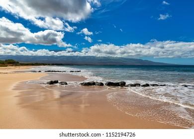 Beautiful beach near Kihei on the island of Maui, Hawaii
