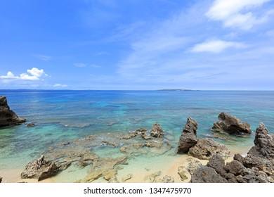 Beautiful beach in Okinawa.