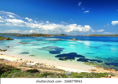 beautiful beach on Caprera, Maddalena archipelago on Sardinia island, Italy