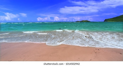 Beautiful beach on the Caribbean island of Saint Lucia