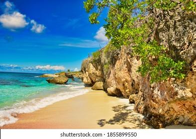 beautiful beach on the caribbean island of bonaire - Shutterstock ID 1855899550