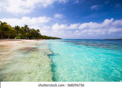 beautiful beach on the Caribbean Sea. Venezuela