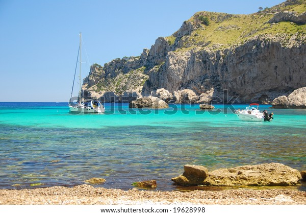beautiful beach on the island mallorca spain