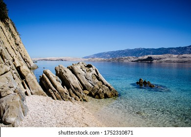 Beautiful beach on island Pag, Croatia