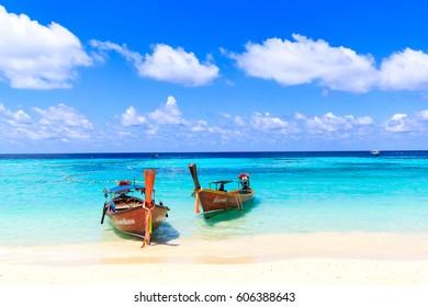 Beautiful beach on Koh Lipe, Andaman Sea, at Satul in Thailand.