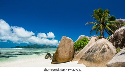 beautiful beach on the Seychelles