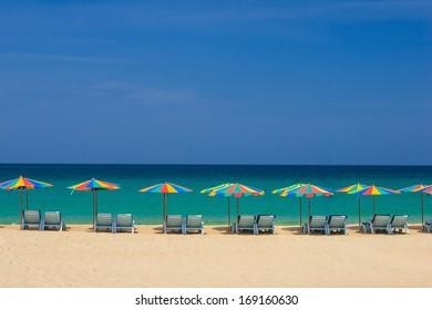 Beautiful beach at Patong beach , Phuket, Thailand
