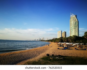 Beautiful beach at Pattaya