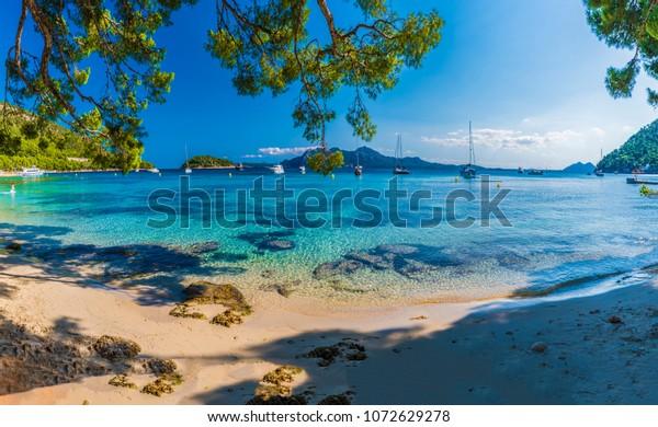 Schöner Strand Playa de Formentor, Palma Mallorca, Spanien