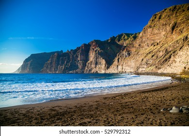 beautiful beach Playa de los Guios in Los Gigantes, Tenerife, Canary Islands, Spain