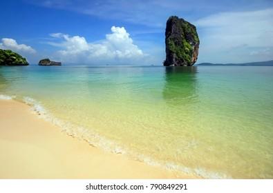 Beautiful beach, Poda Island, Krabi, Thailand