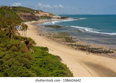 Beautiful beach of Praia do Amor near Pipa on Brazil