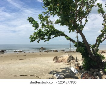 A beautiful beach in Rayong ,Thailand.