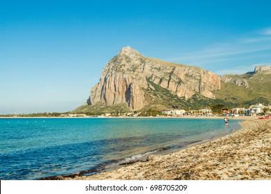 The beautiful beach of San Vito lo capo in Sicily