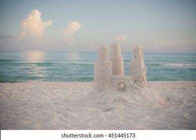 Beautiful beach & sand castle in Destin, FL.