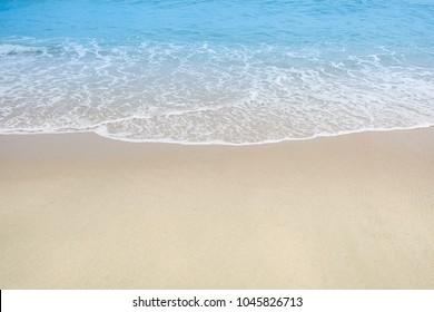 A beautiful beach sand on summer in thailand