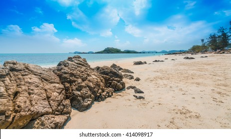 beautiful beach sattahip the north of pattaya thailand