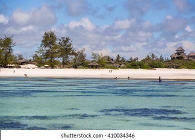 Beautiful beach scenario in Watamu Beach, north shore of Kenya, Africa