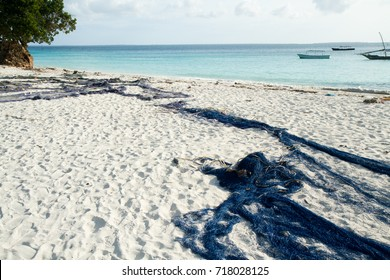 the beautiful beach and sea of zanzibar in the indian ocean