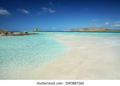 beautiful beach Stintino La Pelosa - Sardinia, Italy