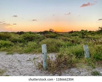 Beautiful beach sunset in Florida.
