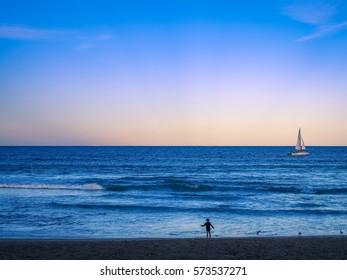 Beautiful Beach at Sunset in Sydney