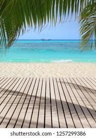 Beautiful beach terrace in the Maldive