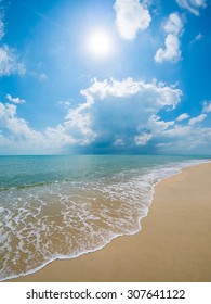 A beautiful beach and tropical sea