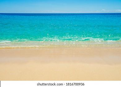 Beautiful beach and tropical sea, peaceful and tranquil,  located in Likupang, Minahasa Utara, Indonesia.