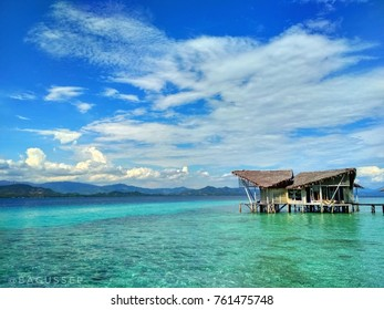 Beautiful beach view at Pulo Cinta, Gorontalo, Indonesia
