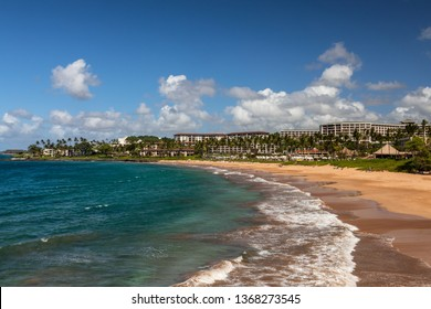 Beautiful beach at Wailea, Maui, Hawaii