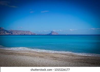 Beautiful beaches of Albir in Spain