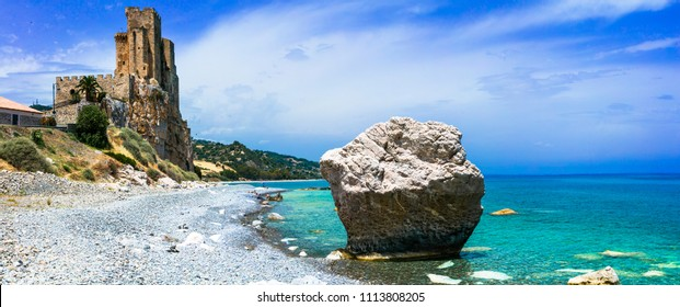 beautiful beaches and castles of Italy - Roseto Capo Spulico in Calabria