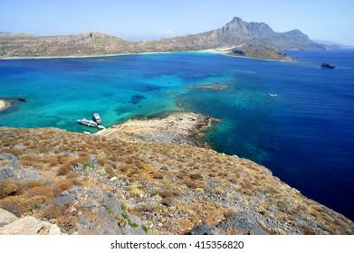 Beautiful beaches of Gramvousa, Greece