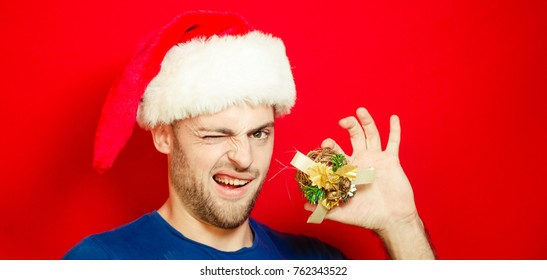 beautiful bearded boy, christmas, popular photo