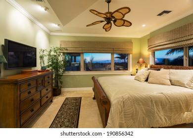 Beautiful Bedroom Interior in New Luxury Home, Interior Design