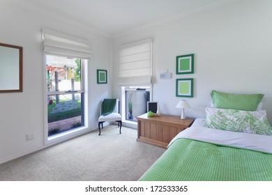 beautiful bedroom in luxurious australian house