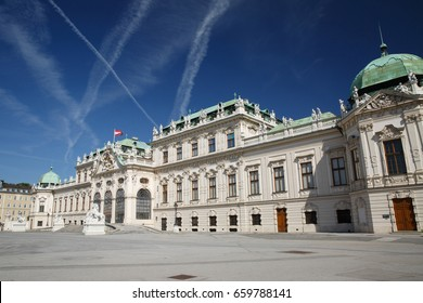 Beautiful Belvedere Palace in Vienna. Summer residence. Austria