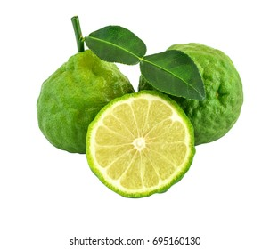 Beautiful bergamot isolated on white background. This has clipping path.