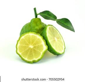 Beautiful bergamot on white background.